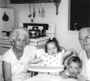 Rosemary Dunn Dalton with Family in Kitchen